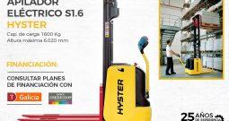 Apilador eléctrico para hombre caminando Hyster S1.0E-S1.6