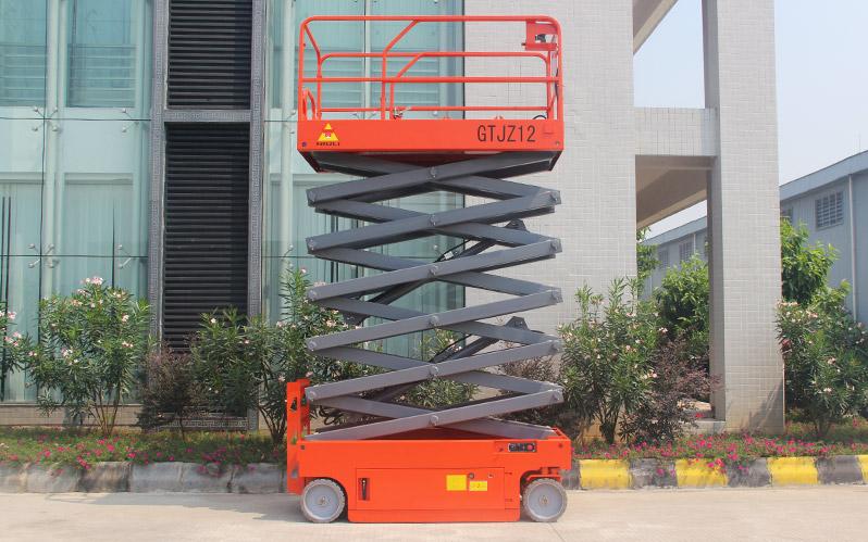 Plataforma tijera eléctrica GTJZ06-14 Niuli (8 a 16mts) full