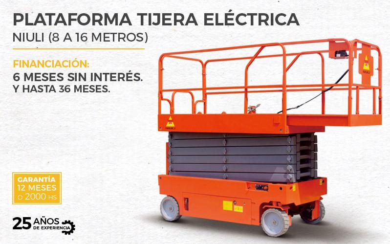 Plataforma tijera eléctrica GTJZ06-14 Niuli (8 a 16mts)